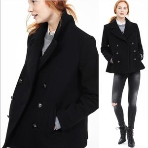 Banana Republic Double Breast Wool Swing Peacoat